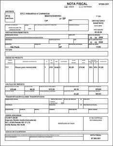 Nota Fiscal Form