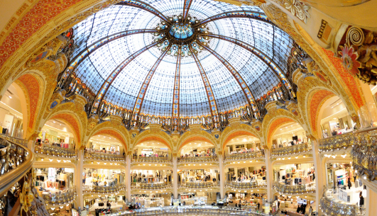 Galeries Lafayette mall in France near Flash Global logistics